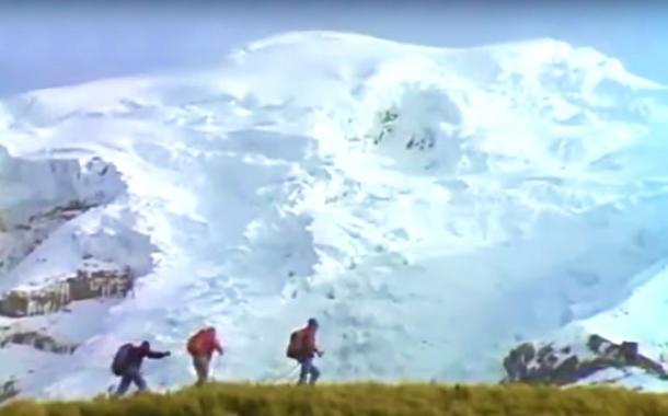 Reinhold Messner, el más grande alpinista de todos los tiempos en el Chimborazo en 1992