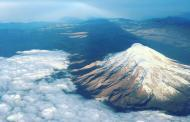 Espectacular el Chimborazo desde las alturas.