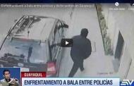 🔴VIDEO Enfrentamiento a bala entre policías y delincuentes en #Guayaquil