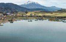 CHIMBORAZO espectacular toma desde la Laguna de Colta
