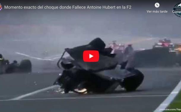 Video: Momento exacto del choque donde Fallece Antoine Hubert en la F2