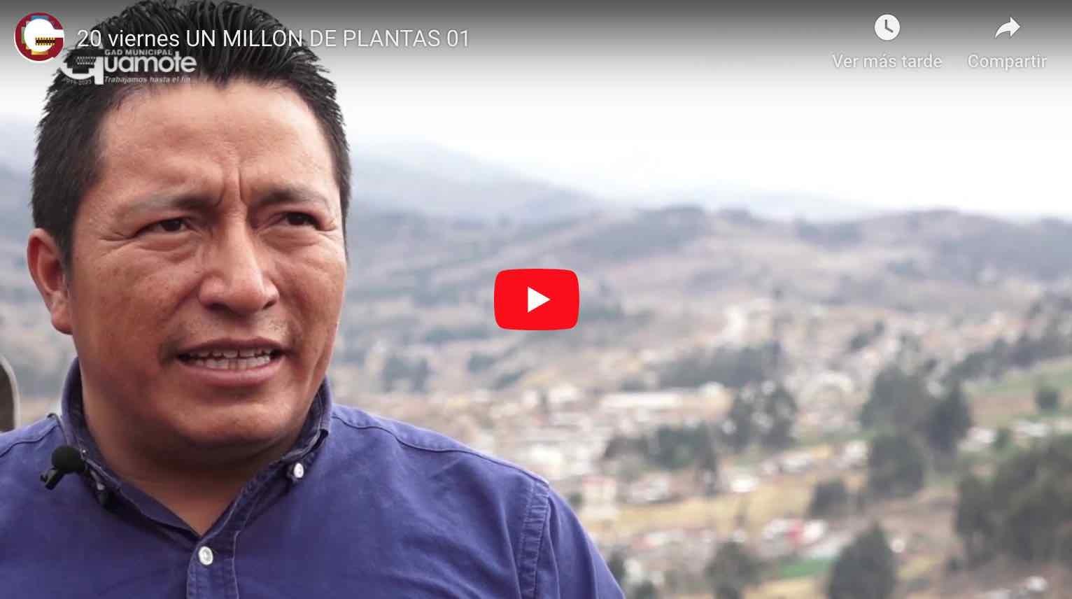 Photo of Video: Delfín Quishpe, dio inicio la siembra de UN MILLÓN de ÁRBOLES en el cantón Guamote.