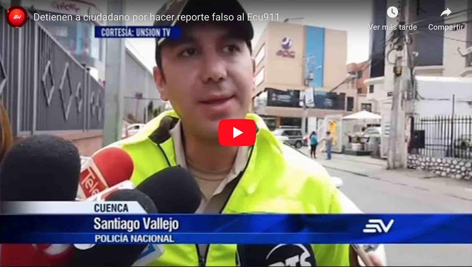 Photo of Video: Detienen a ciudadano por hacer reporte falso al Ecu911 – Ecuavisa