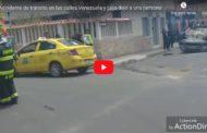 Video: Accidente de tránsito en las calles Venezuela y Loja dejó a una persona herida. - La Prensa