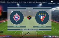 Video: PES 2019 - Liga Pro Ecuador Liga de Quito vs CD Olmedo.