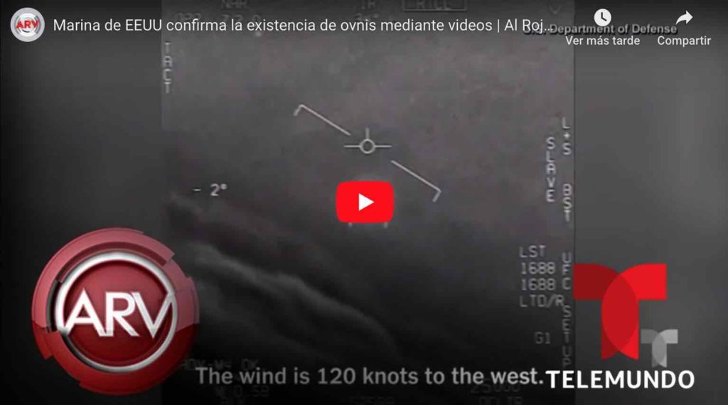 Video: Marina de EEUU confirma la existencia de OVNIS.