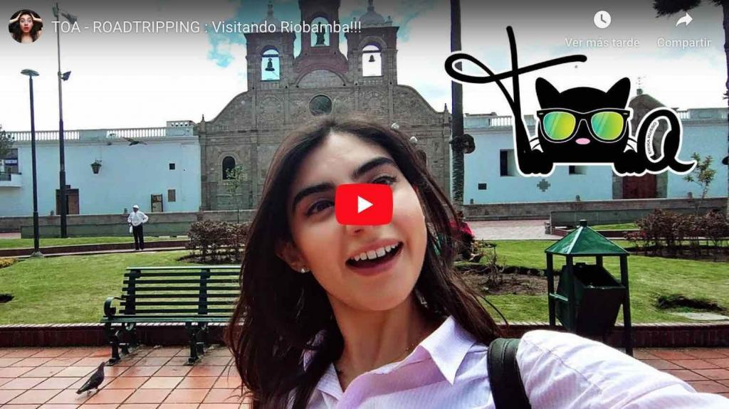 Video: Erika Russo de ENCHUFE TV visitó Riobamba.