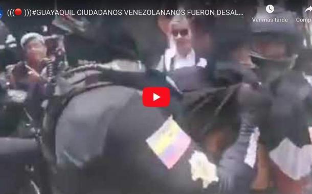 Video: GUAYAQUIL, CIUDADANOS VENEZOLANANOS FUERON DESALOJADOS DE UN PARQUE DEPORTIVO.