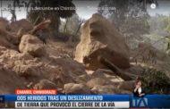 VIDEO: Dos heridos tras un derrumbe en Chimborazo - Teleamazonas