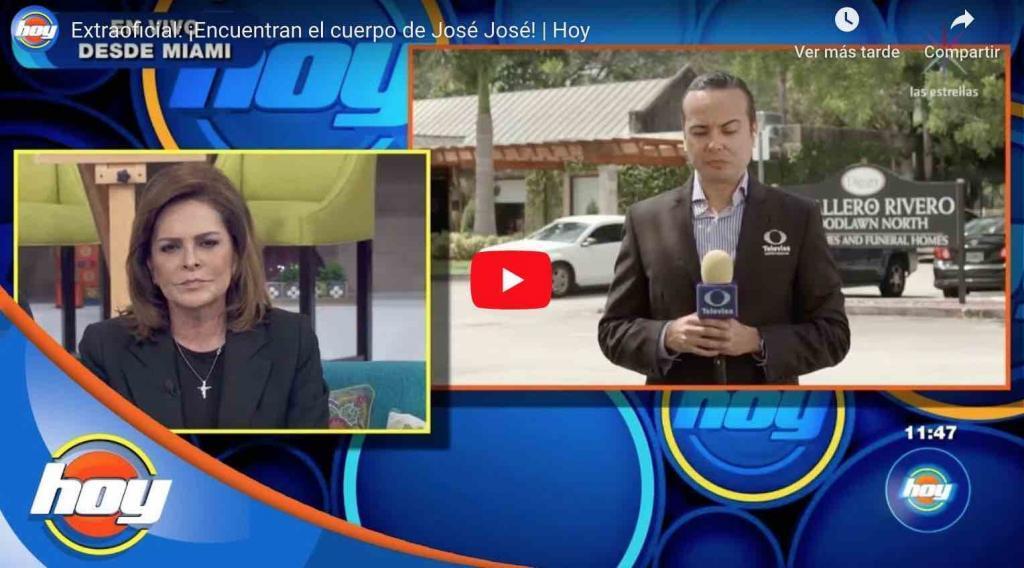 Video: ¡Por fin aparece el cuerpo de José José!