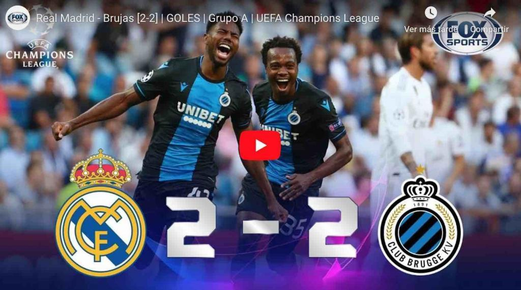 Video: Real Madrid - Brujas [2-2] | GOLES | Grupo A | UEFA Champions League