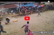 VIDEO | Fuerte CORNADA en los TOROS DE PUEBLO LLAGOS-CHIMBORAZO