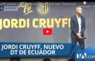 VIDEO | La FEF presenta a Jordi Cruyff como nuevo DT de Ecuador