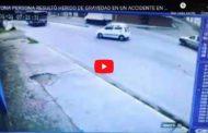 VIDEO | UNA PERSONA RESULTÓ HERIDO DE GRAVEDAD EN UN ACCIDENTE EN RIOBAMBA.