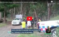 VIDEO | Adolescente muere en accidente de tránsito en Riobamba