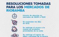 El horario de atención de los mercados se modificó en Riobamba
