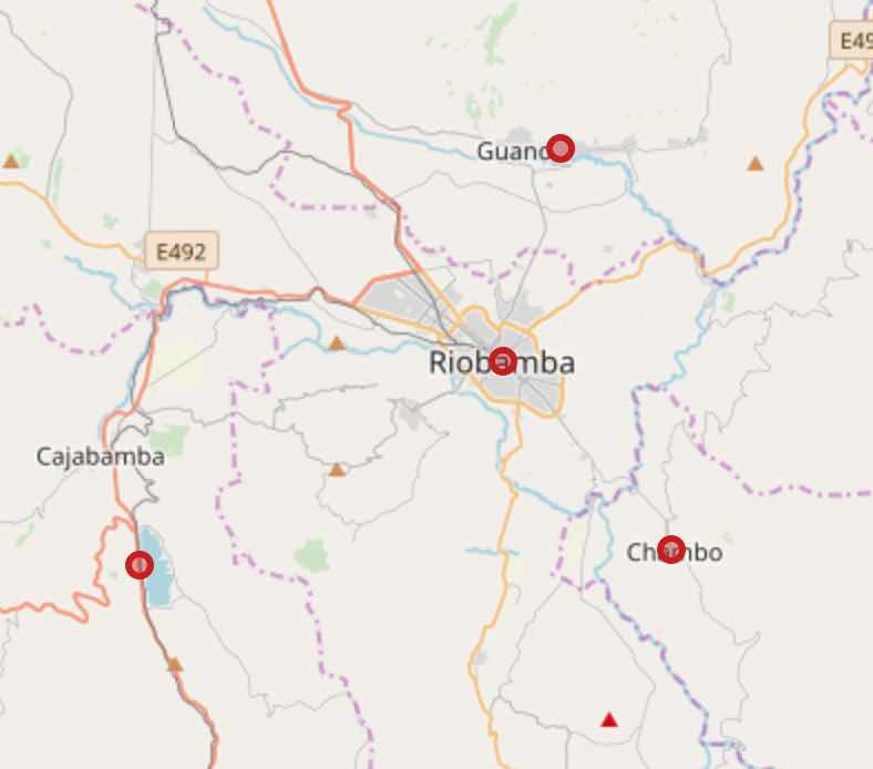 mapa covid chimborazo