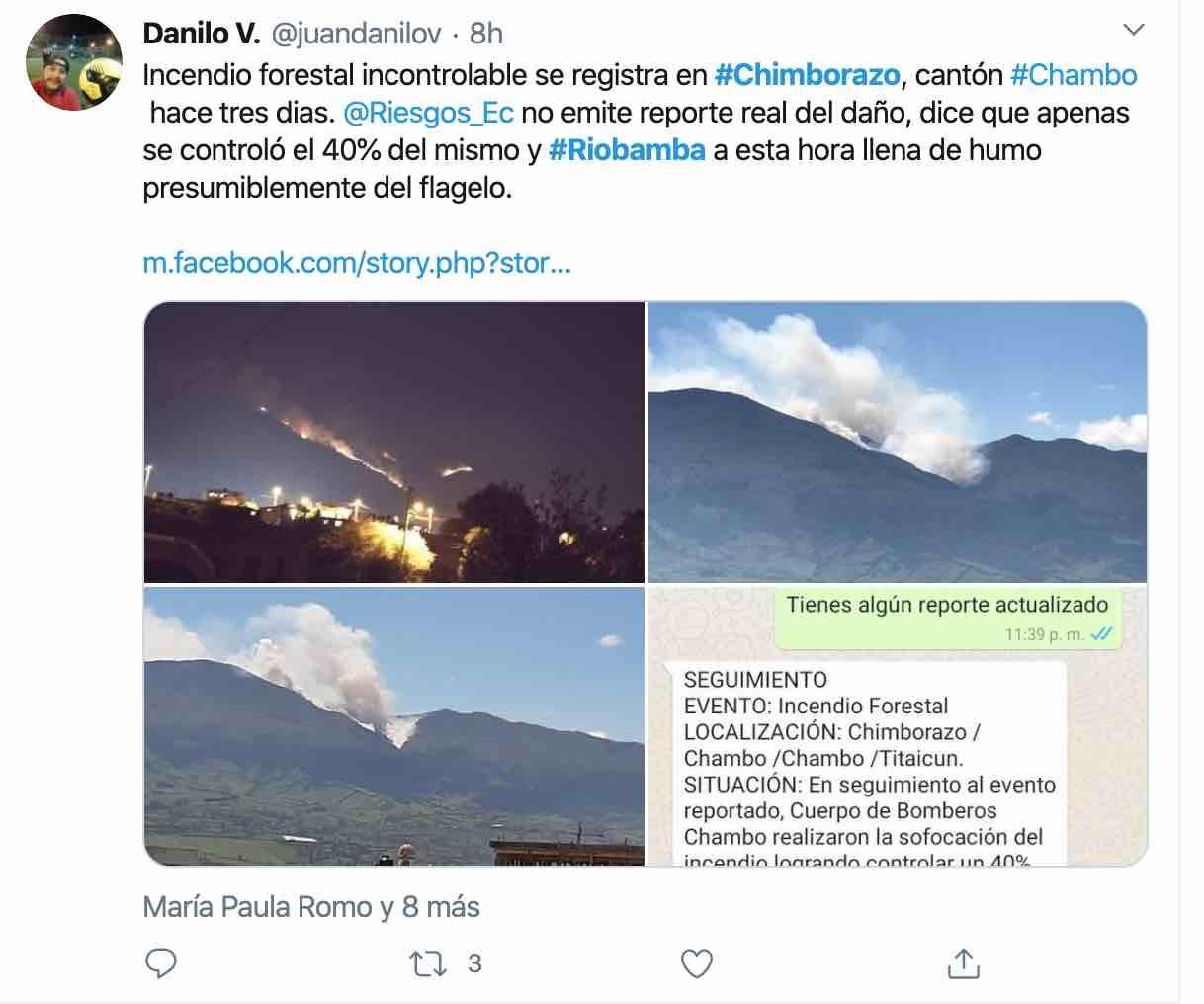 incendio riobamba