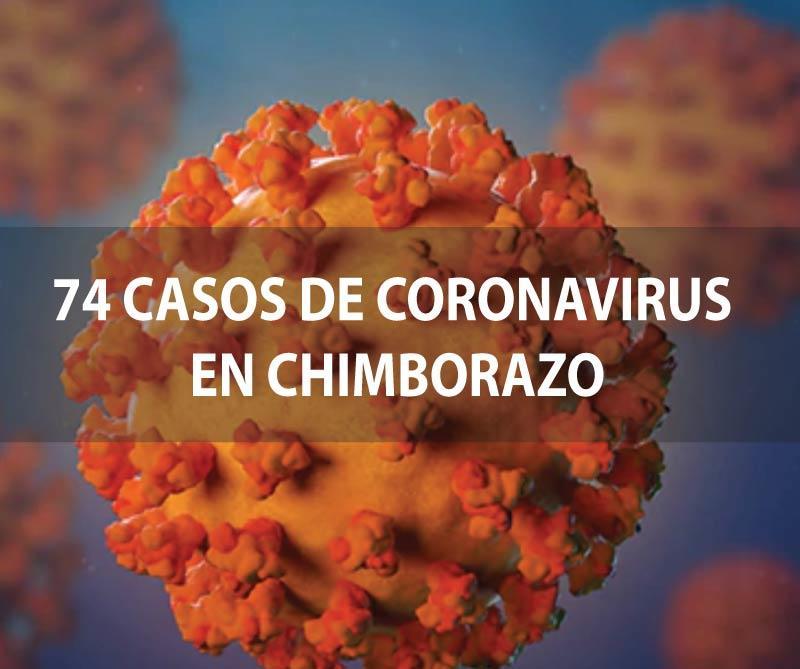 SUBE a 74 los casos de Covid19 confirmados en Chimborazo