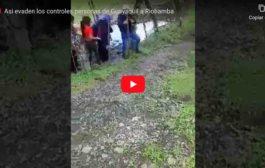 VIDEO: Así EVADEN los controles personas que salen desde Guayas hasta la provincia de Chimborazo