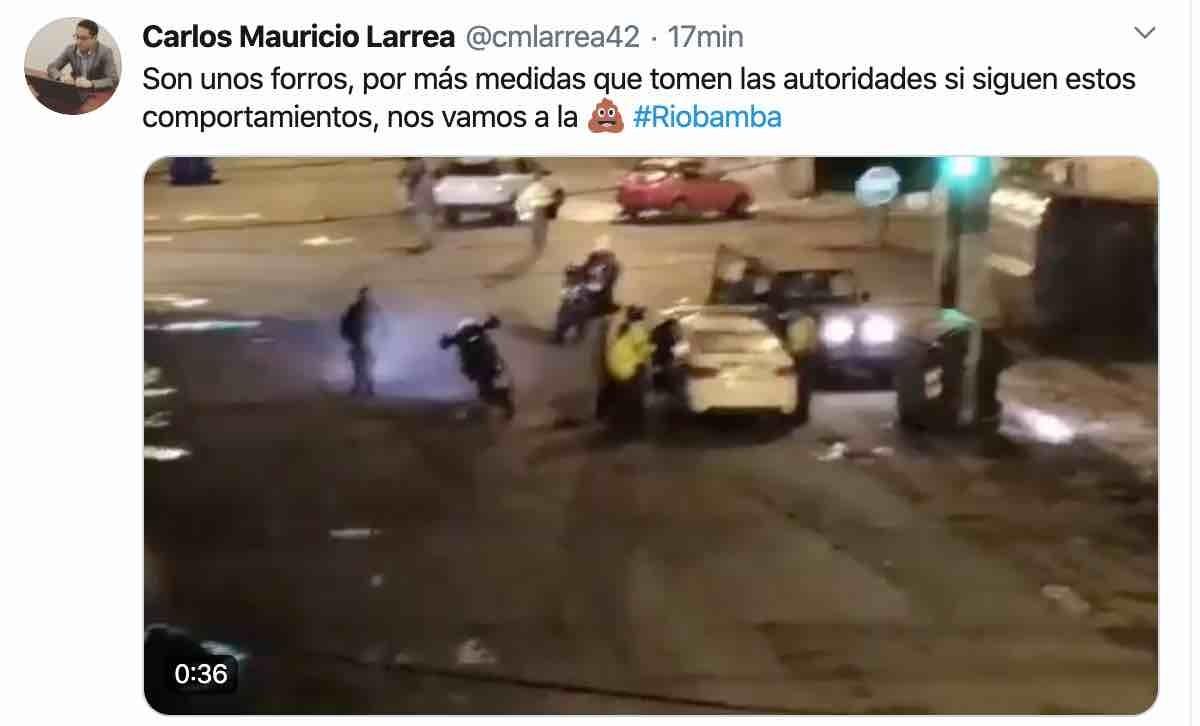 detenidos en riobamba toque de queda