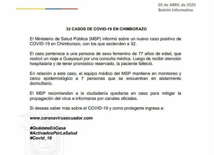 covid chimborazo