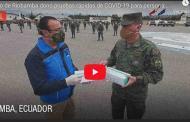 VIDEO: Municipio de Riobamba donó pruebas rápidas de COVID-19 para personal militar.