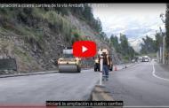 VIDEO: Iniciará la fase dos de la ampliación a cuatro carriles de la vía Riobamba - Ambato