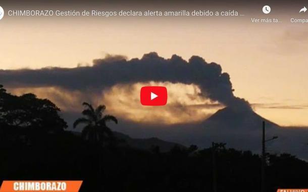 VIDEO: Alerta amarilla en CHIMBORAZO debido a caída de ceniza del volcán Sangay