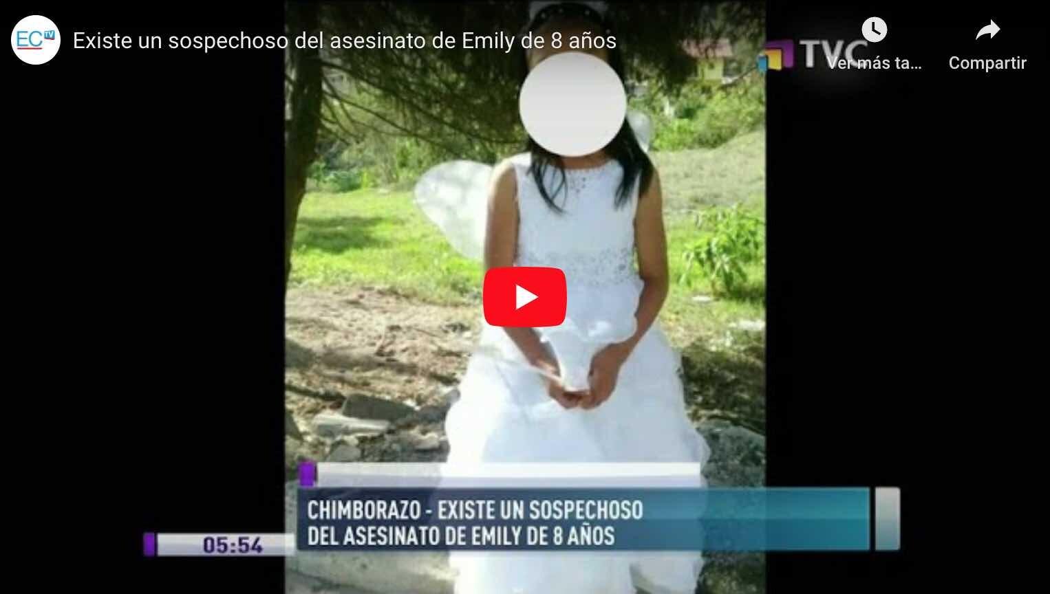 Photo of VIDEO: Existe un sospechoso del asesinato de Emily de 8 años.
