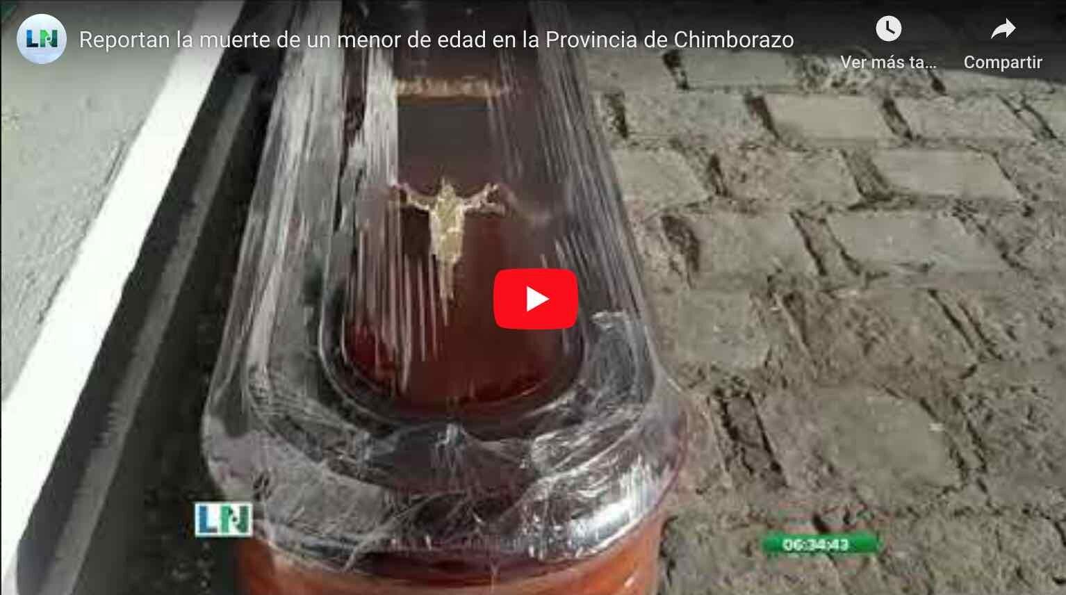 Reportan la muerte de un menor de edad en la Provincia de Chimborazo