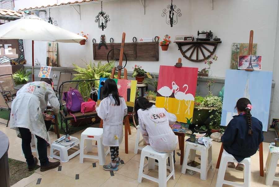 cursos de pintura en riobamba para niños